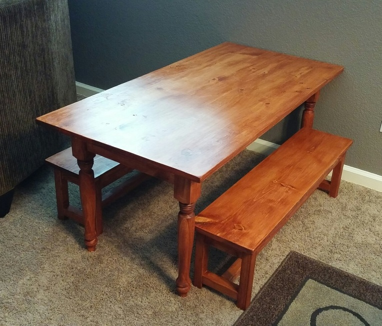 DIY Kids benches and table