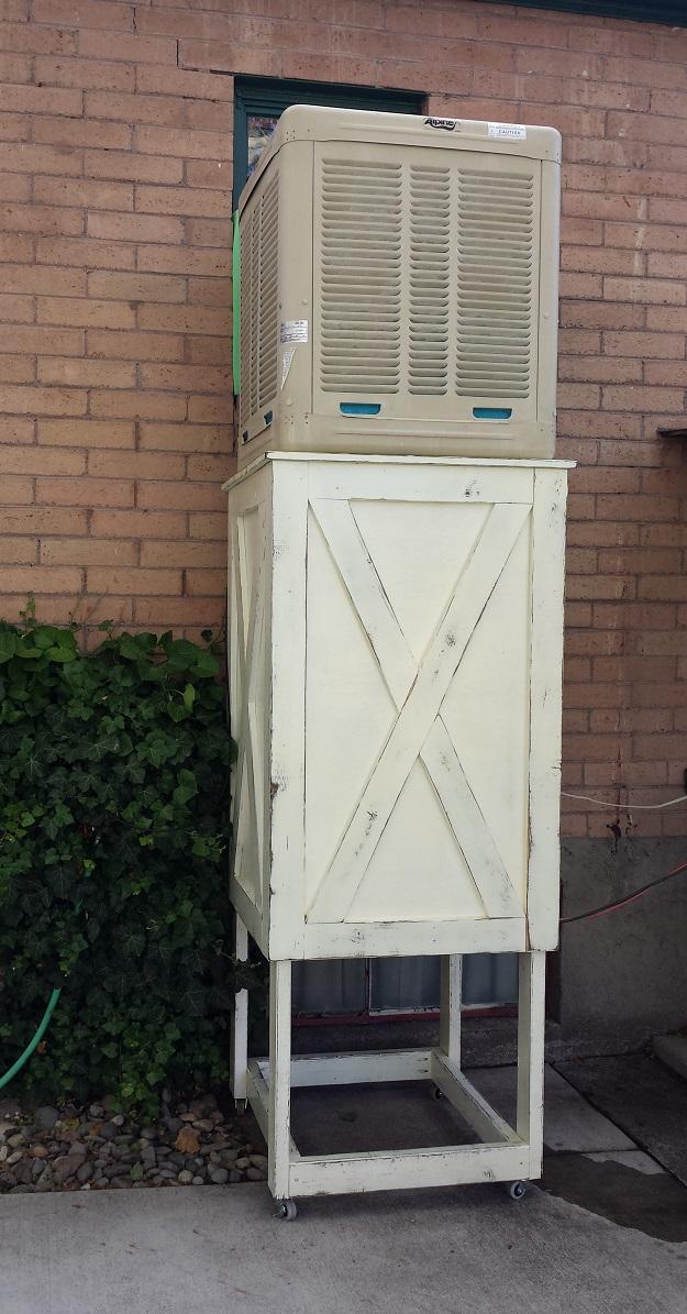Reveal Build A Farmhouse Swamp Cooler Stand Renorustic