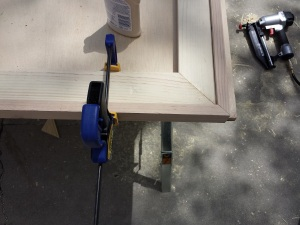 Step 8 e clamp and nail edges