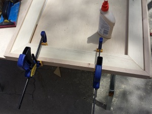 Step 8f clamp and nail edges