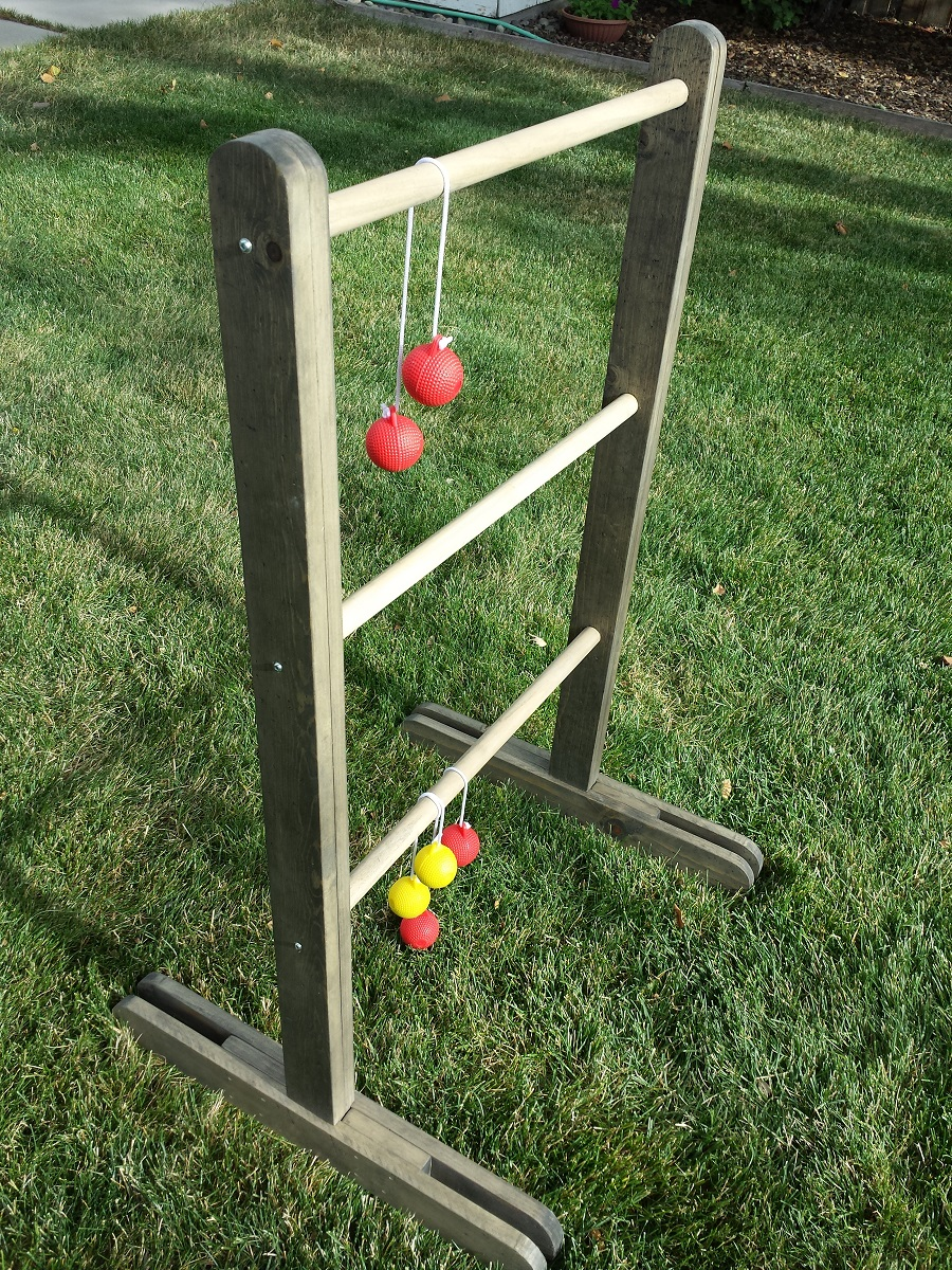 Plans build a ladder golf set for 30 renorustic all thats left at this point is to fill the holes with wood filler if desired and sand the project be sure to vacuum the sawdust off the project solutioingenieria Image collections